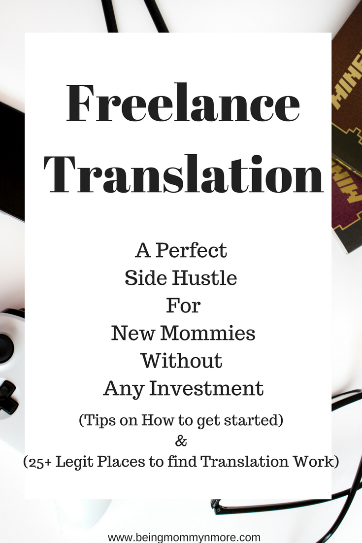 Freelance translation side hustle for moms